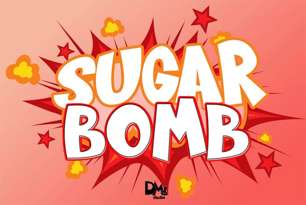 Best Comic fonts for designers: Sugar Bomb