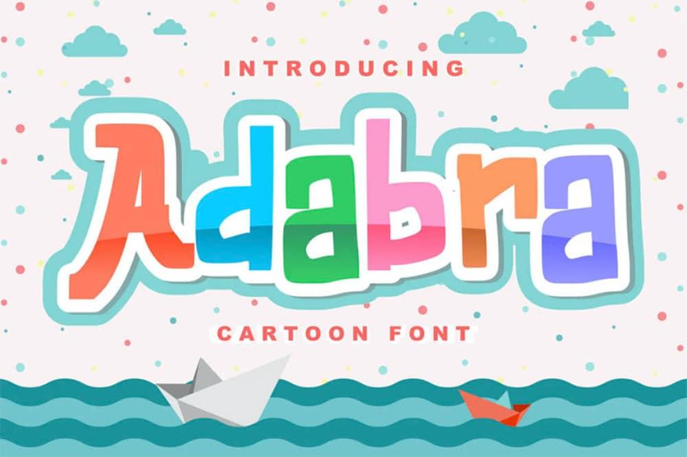 Best Comic fonts for designers: Adabra