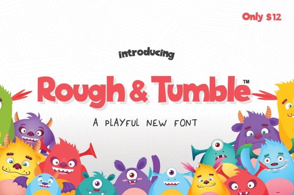 Best Comic fonts for designers: Rough & Tumble