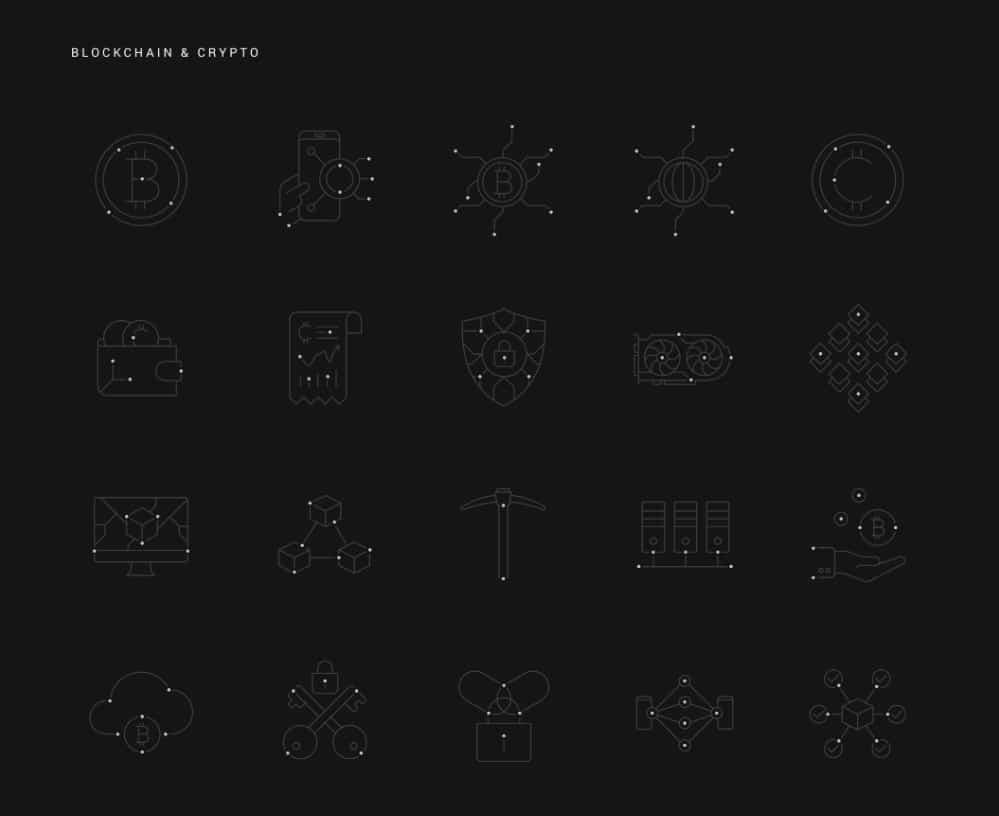 Line Design Icon sets for Your Collection: Nucleus Set