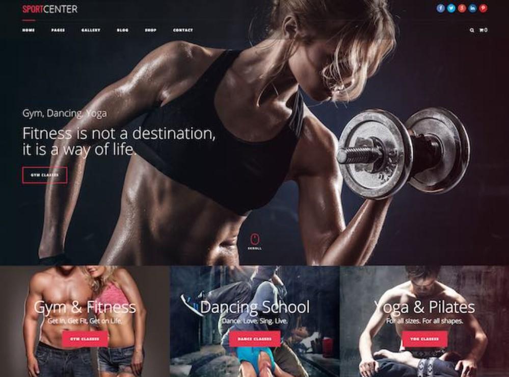 Impressive WordPress Themes for Fitness Clubs: Sport Center