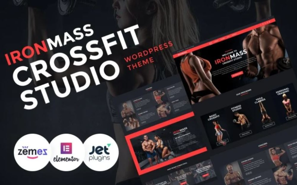 Impressive WordPress Themes for Fitness Clubs: Iron Mass