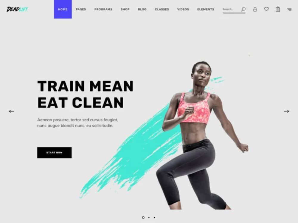 Impressive WordPress Themes for Fitness Clubs: DeadList
