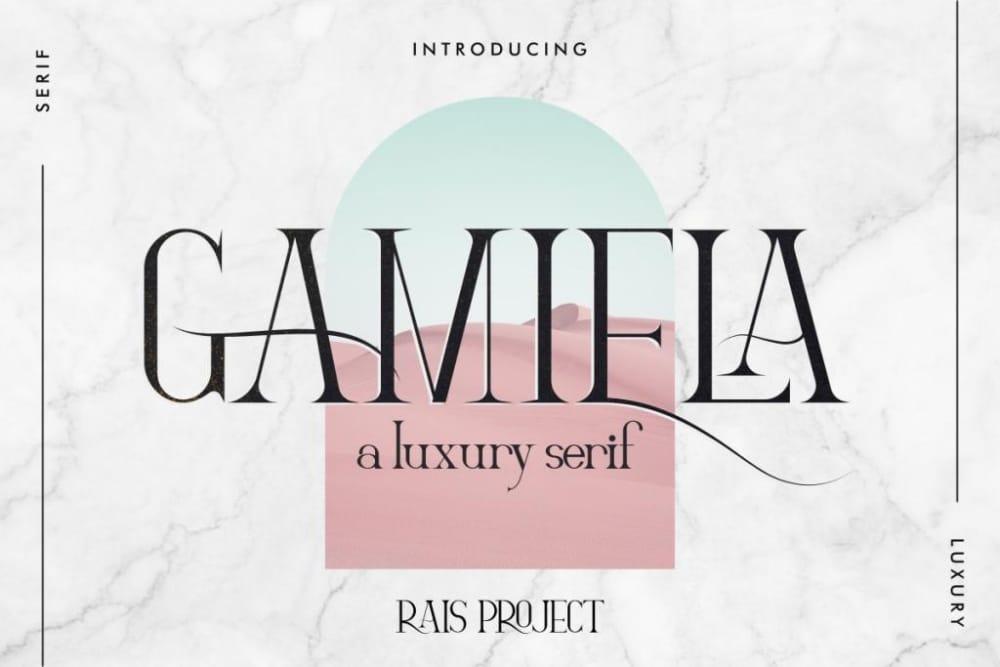 Best Fonts for Brochures & Flyers: Gamiela