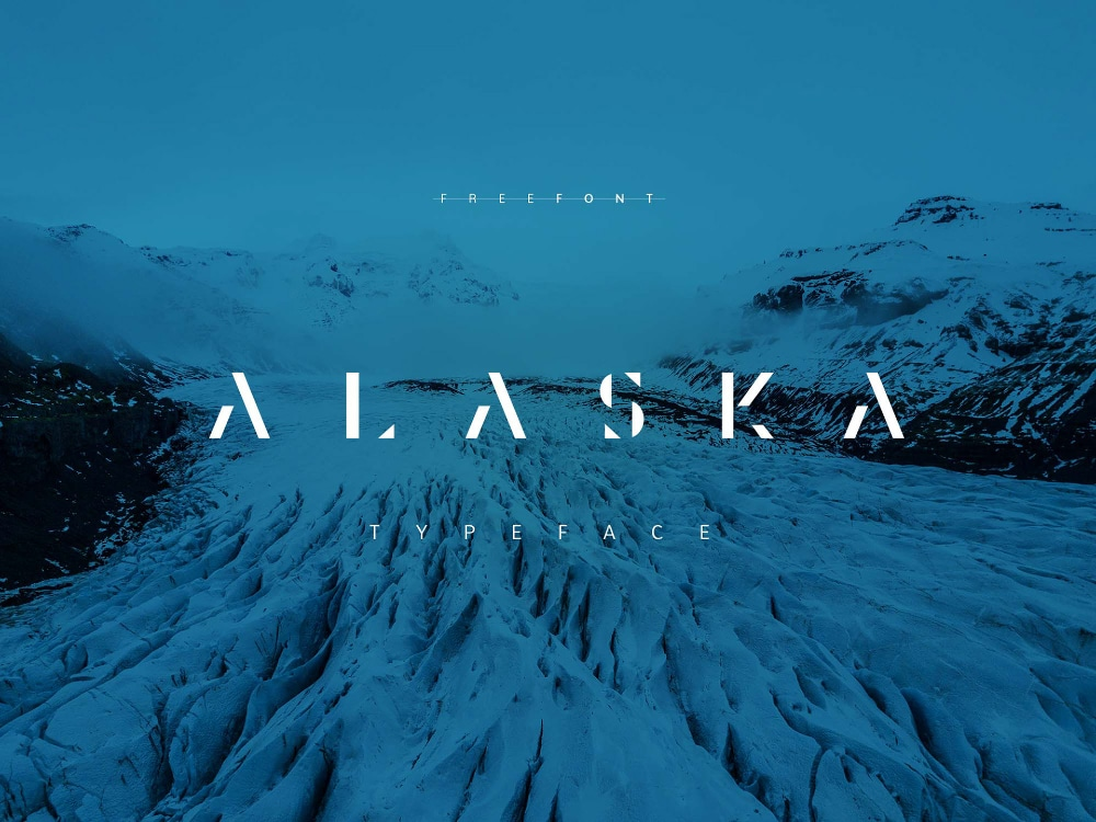 Free Industrial Fonts for Designers: Alaska