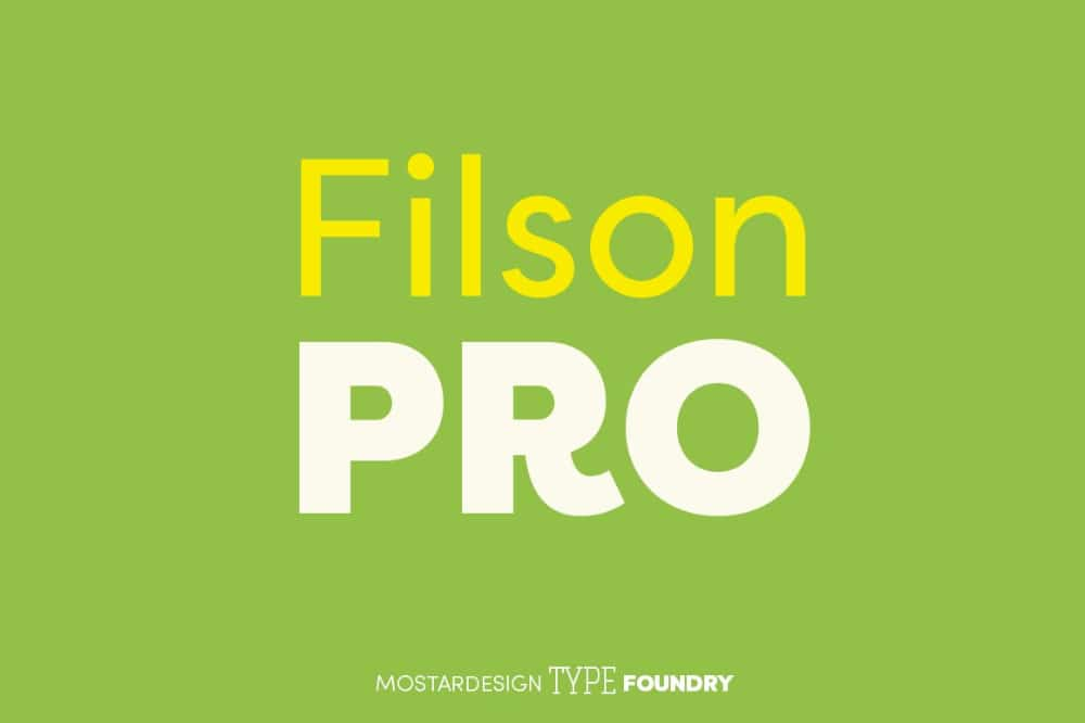 Best Fonts for Brochures & Flyers: Filson