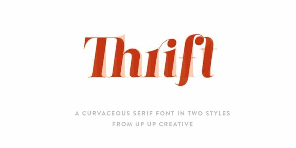 Best Fonts for Brochures & Flyers: Thrift