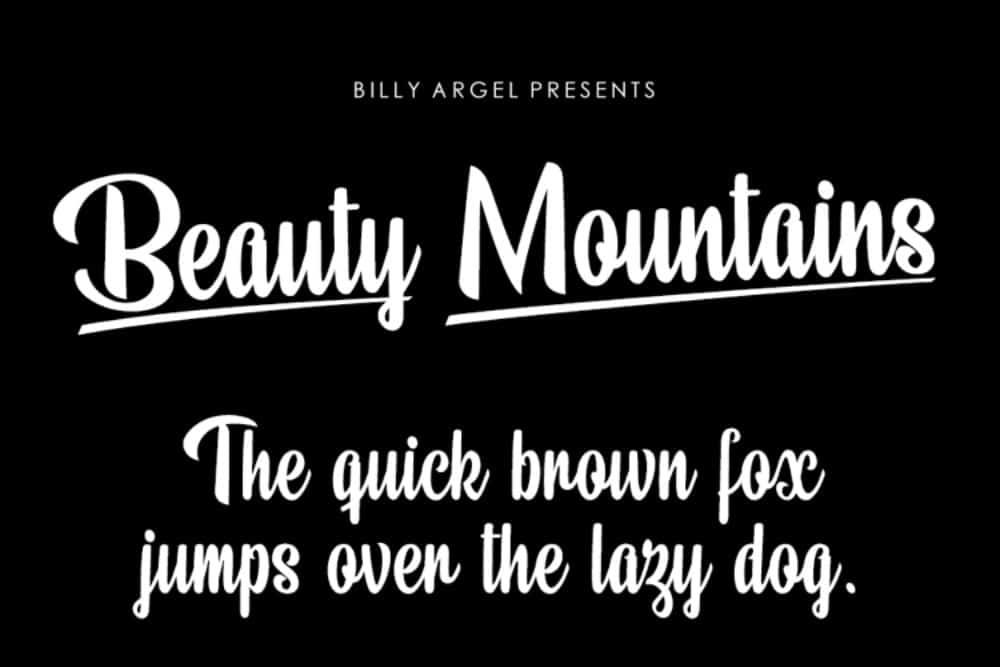 Best Fonts for Brochures & Flyers: Beauty Mountians