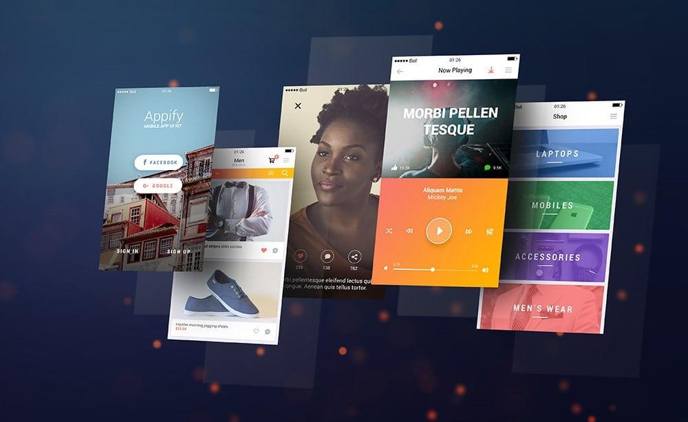 Free Mobile Application Mockups Designers Can Download: Mobile App Screens