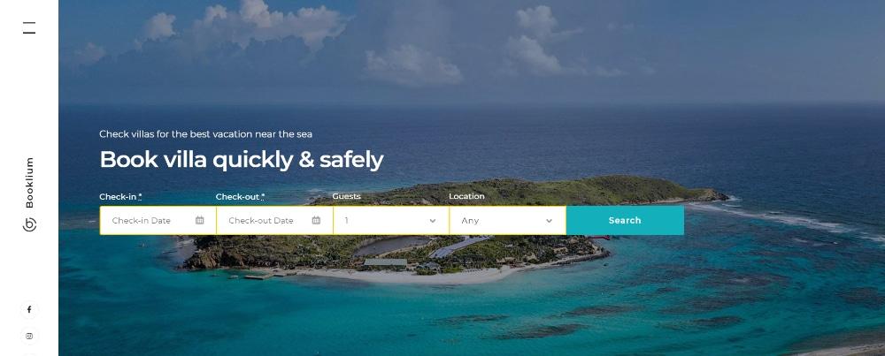 Beautiful WordPress Themes for Vacation Rental Websites: Booklium