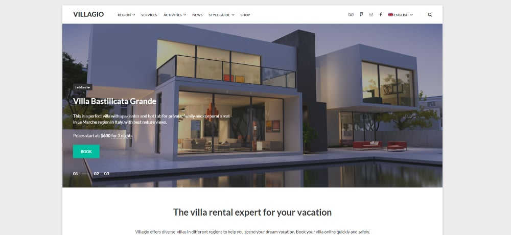 Beautiful WordPress Themes for Vacation Rental Websites: Vacation Rental