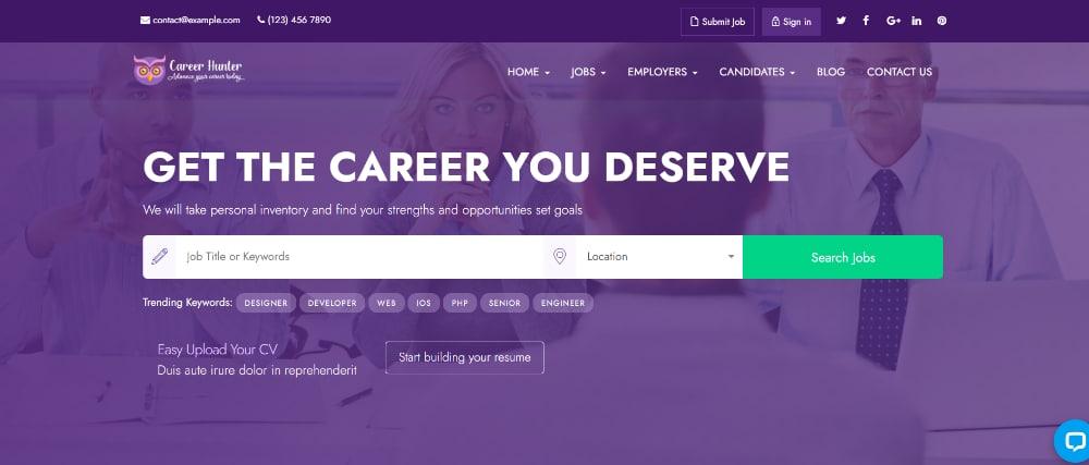 Best Job Board WordPress Themes of 2021: CareerHunter