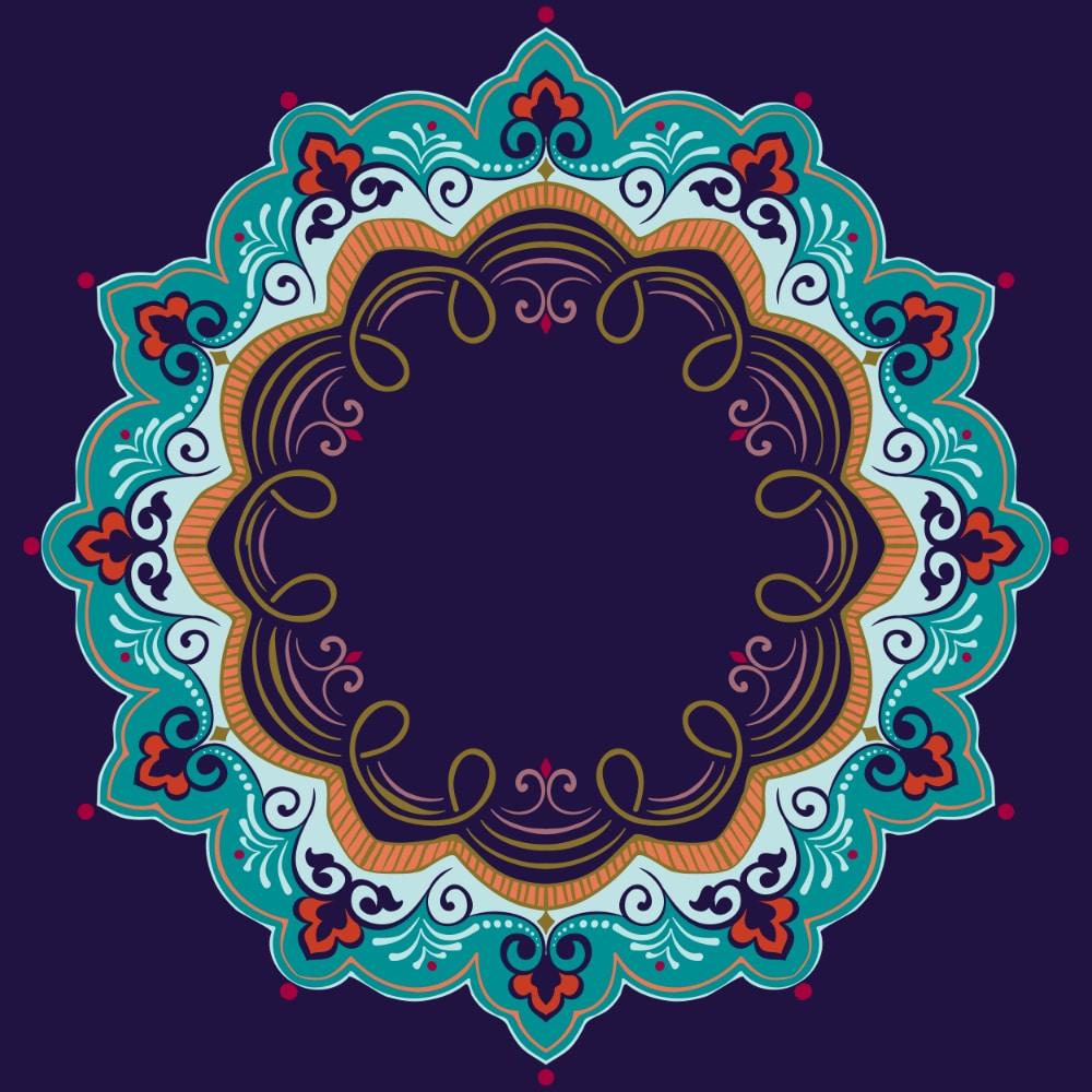 Free Mandala Designs: Ornamental Round