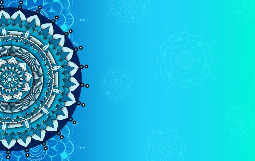 Free Mandala Designs: Blue Gradient Mandala