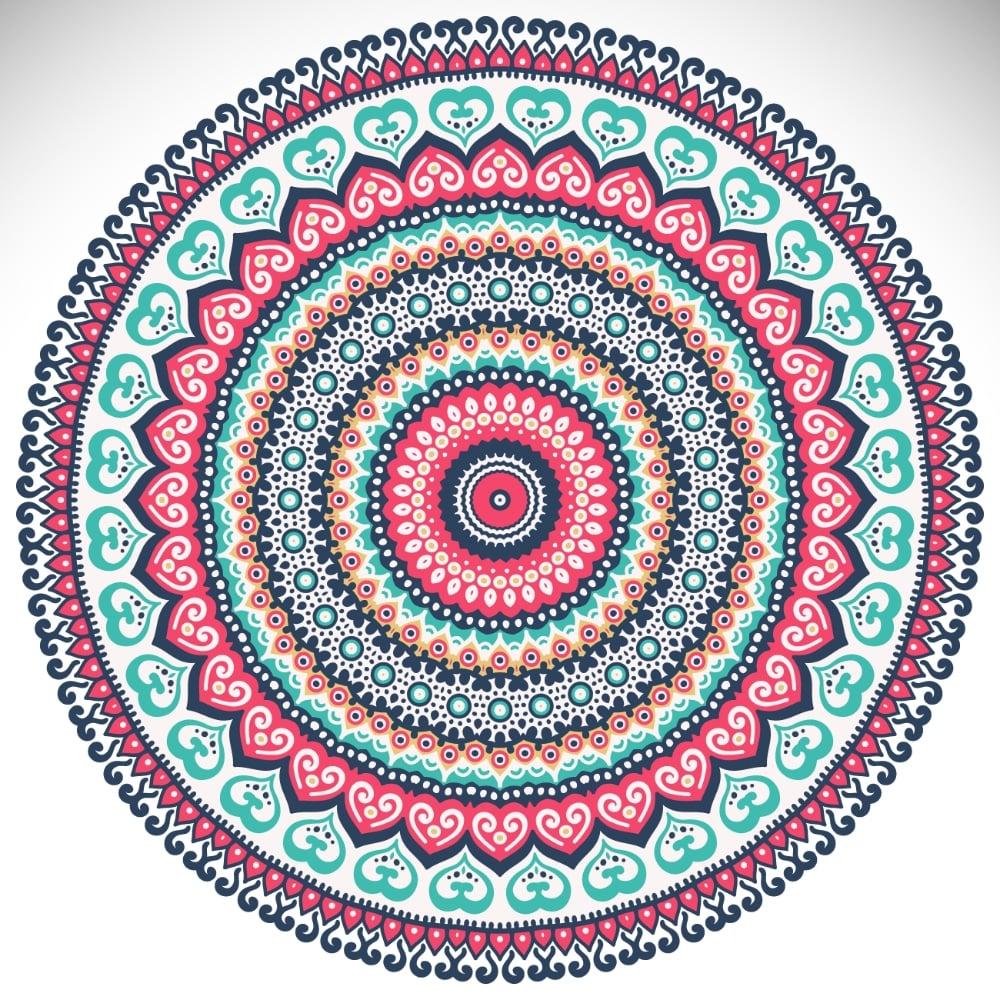 Free Mandala Designs: Traditional Multicolor