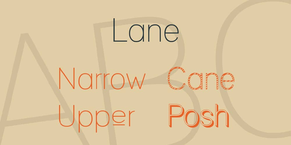 Most Used Fonts for Brochure Designing: Lane