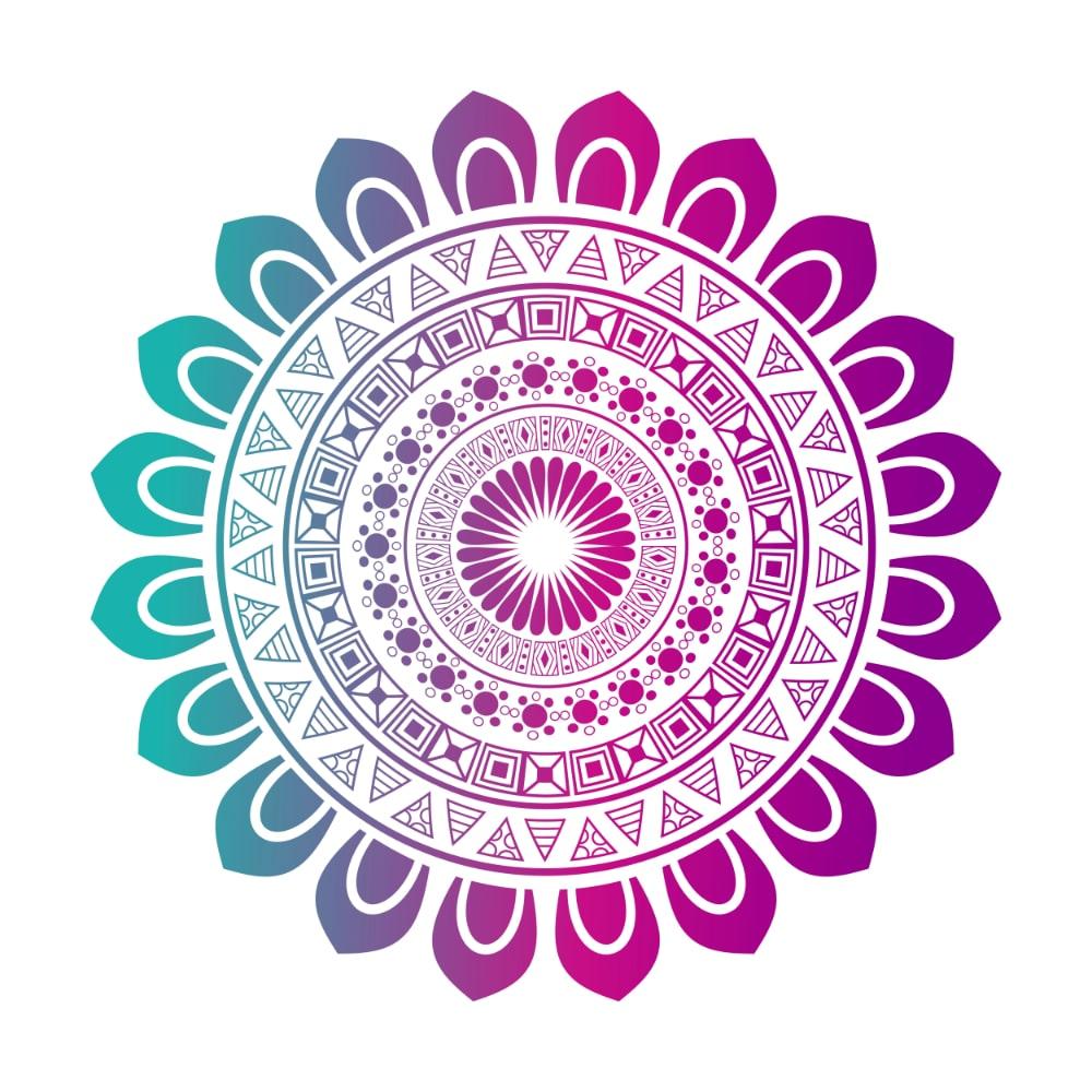 Free Mandala Designs: Colorful over White