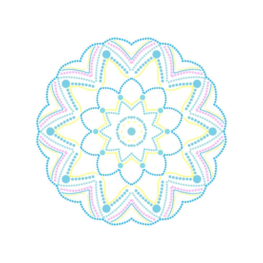 Free Mandala Designs: Polka Dot