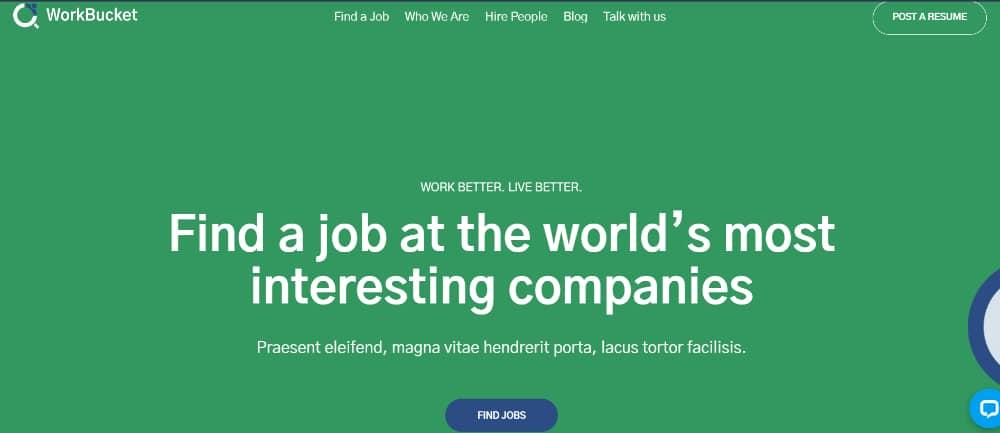 Best Job Board WordPress Themes of 2021: Workbucket