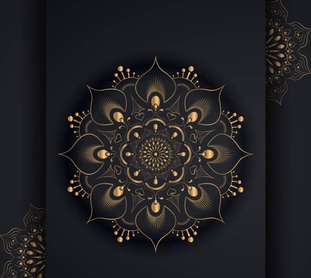 Free Mandala Designs: Golden