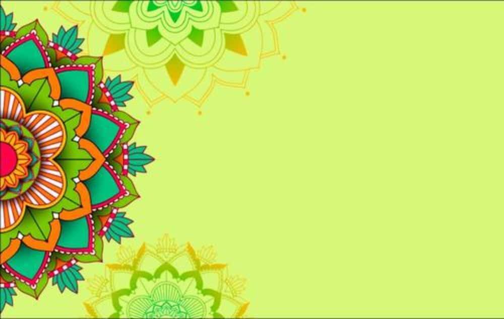 Free Mandala Designs: Realistic Colorful Background